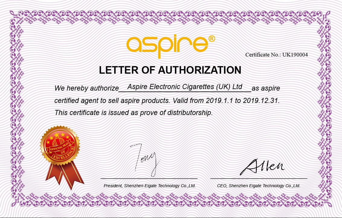 Aspire Certification